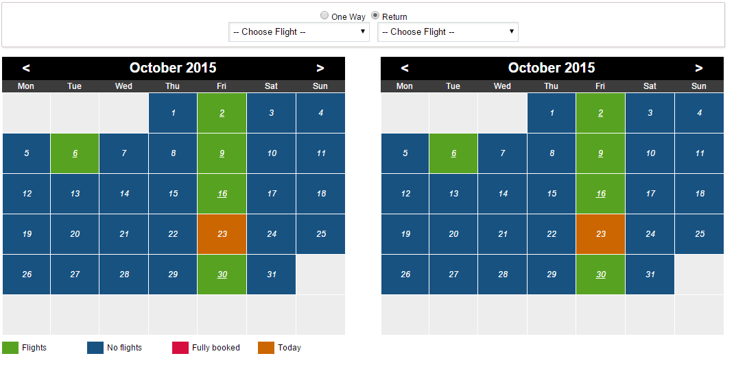 Flight booking system